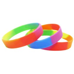Multicoloured Silicone Wristbands