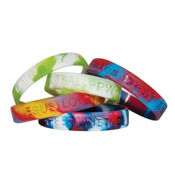 Sectional Silicone Wristbands Coloured