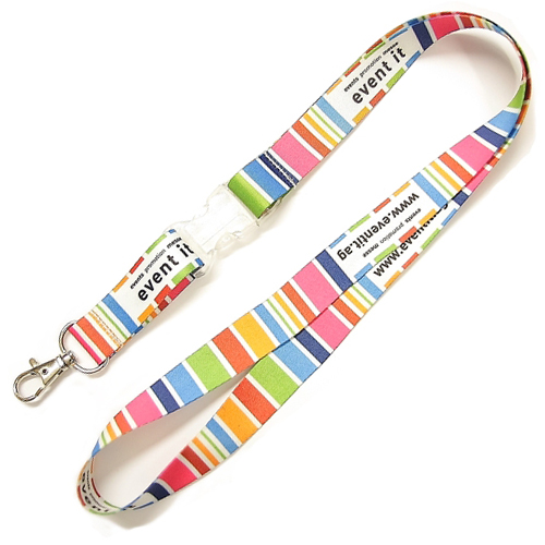 Sublimated print lanyards