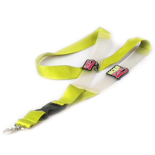 Customised Polyester lanyard with PVC strip