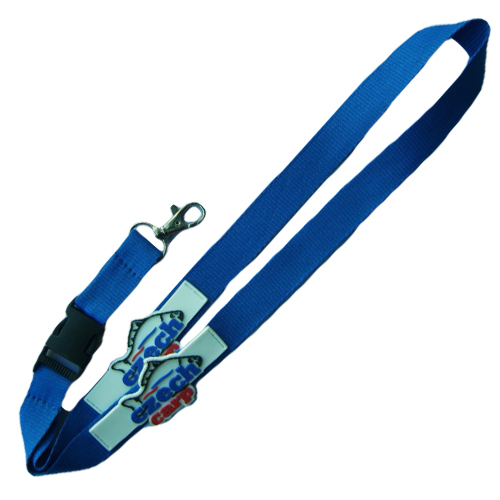 Polyester lanyard with PVC strip